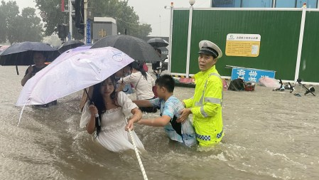 At Least 25 People Dead as Rains Flood Central China's Henan Province