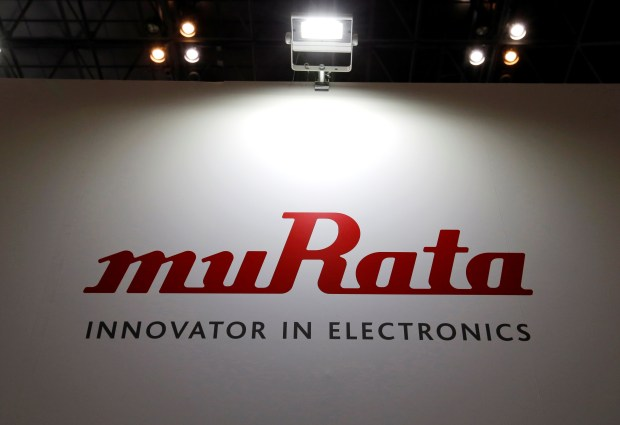 A logo of Murata Manufacturing Co is pictured at CEATEC (Combined Exhibition of Advanced Technologies) JAPAN 2016 at the Makuhari Messe in Chiba, Japan, October 3, 2016.   REUTERS/Toru Hanai