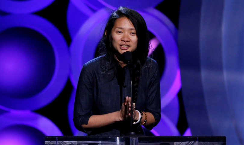 """2018 Film Independent Spirit Awards - Show - Santa Monica, California, U.S., 03/03/2018 - Chinese director Chloe Zhao, of the film """"The Rider,"""" accepts the Bonnie Award. REUTERS/Mario Anzuoni/File Photo"""