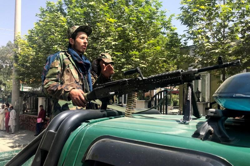Taliban forces patrol in Kabul, Afghanistan, August 16, 2021.REUTERS/Stringer
