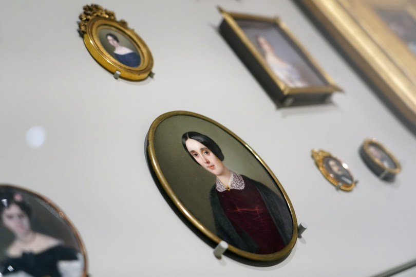 Miniature portrait of the Duchess of Bivona Maria del Carmen Lucia de Acuna and Dewite, painted by Sophie Lienard is seen at El Prado Museum in Madrid, Spain, July 21, 2021. REUTERS/Juan Medina