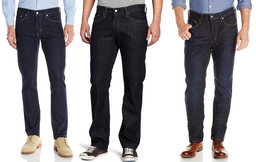 Levi's 511 Slim, 514 Straight, 541 Athletic