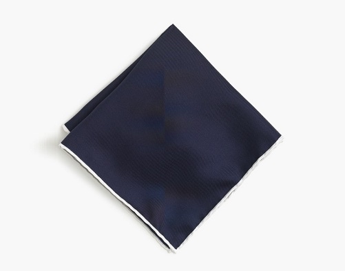 J. Crew Tipped Italian Silk Pocket Square