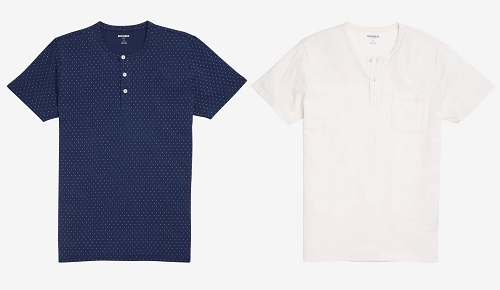 Bonobos Short Sleeved SLIM Cotton Henley