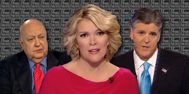 Roger Ailes, Megyn Kelly, Sean Hannity