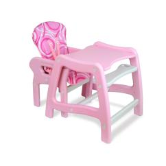 High Chair Converts To Table And Swinging Outdoor Badger Basket Envee Baby With Playtable