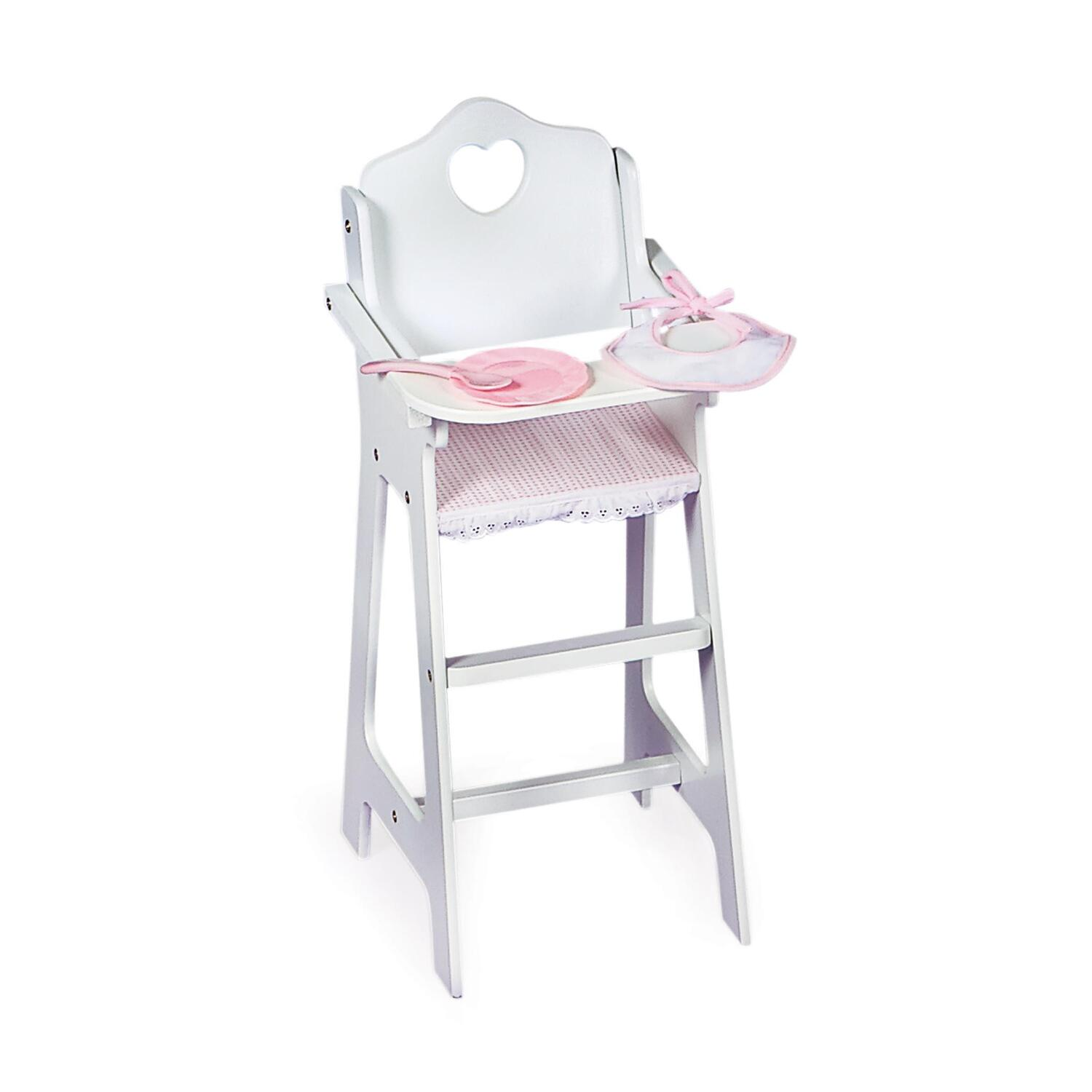 baby toy high chair set dining room chairs with wheels and arms heirloom doll furniture from 139 99 to 173 ojcommerce