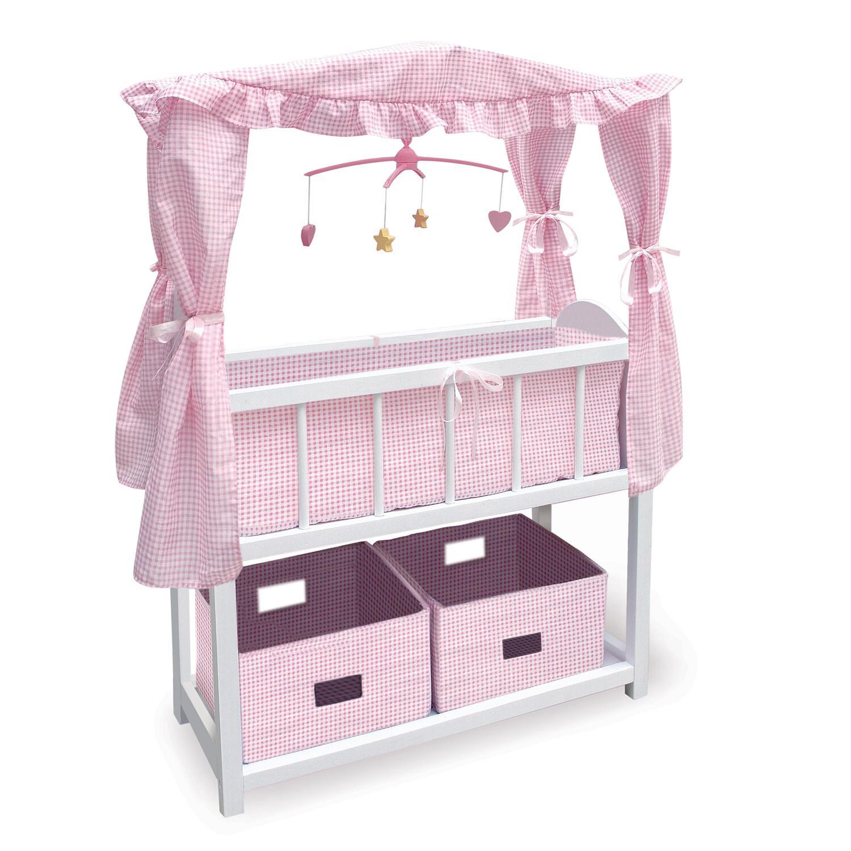Badger Basket Canopied Doll Crib Furniture Set by OJ