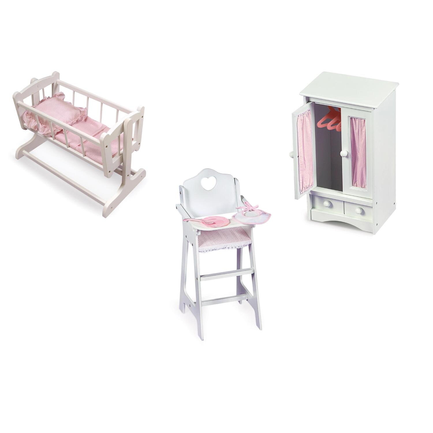 badger basket doll high chair office oh/ia133/n heirloom furniture set from 139 99 to 173