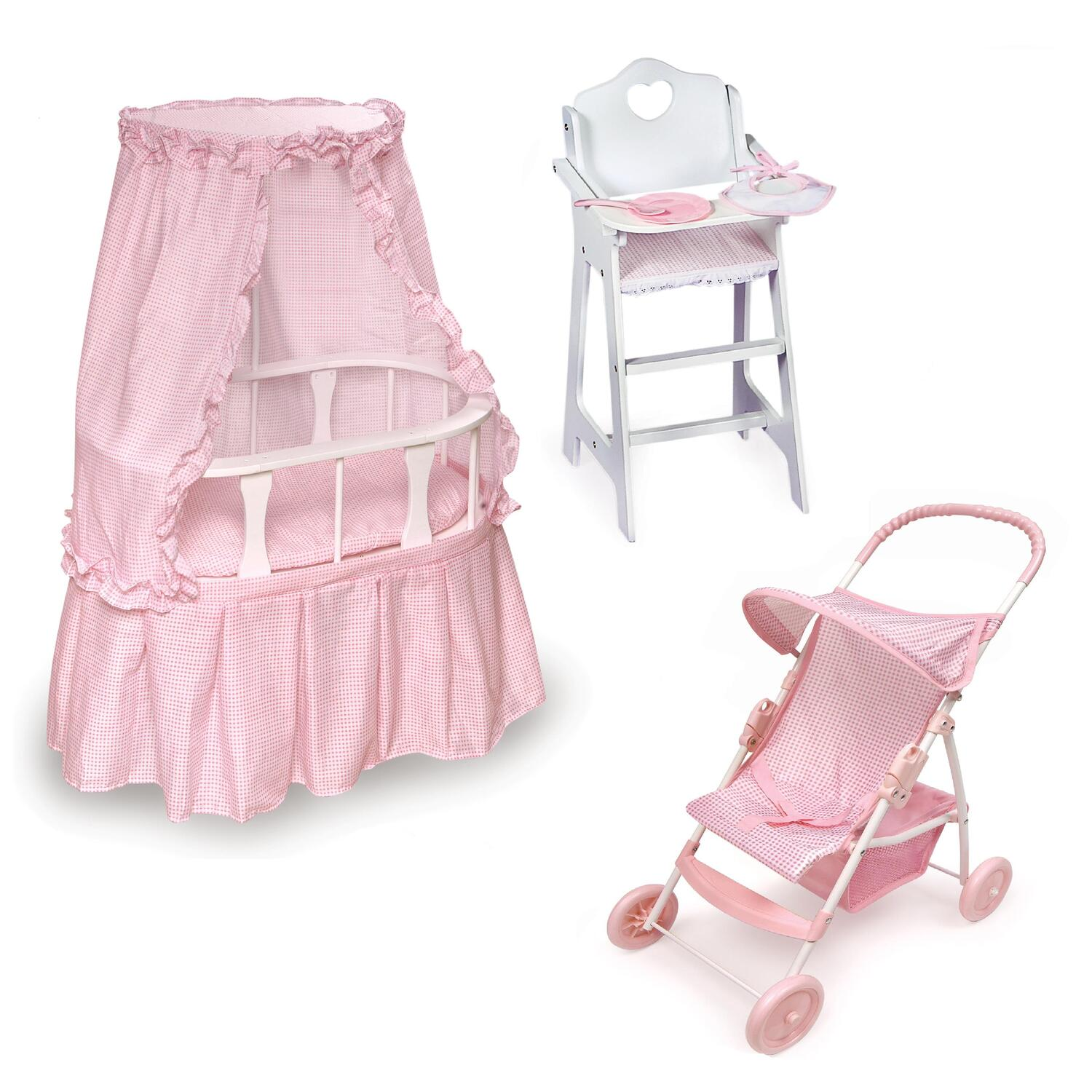 badger basket evolve high chair used lifeguard chairs for sale marvelous interior images of homes oval doll bassinet furniture set ojcommerce pink