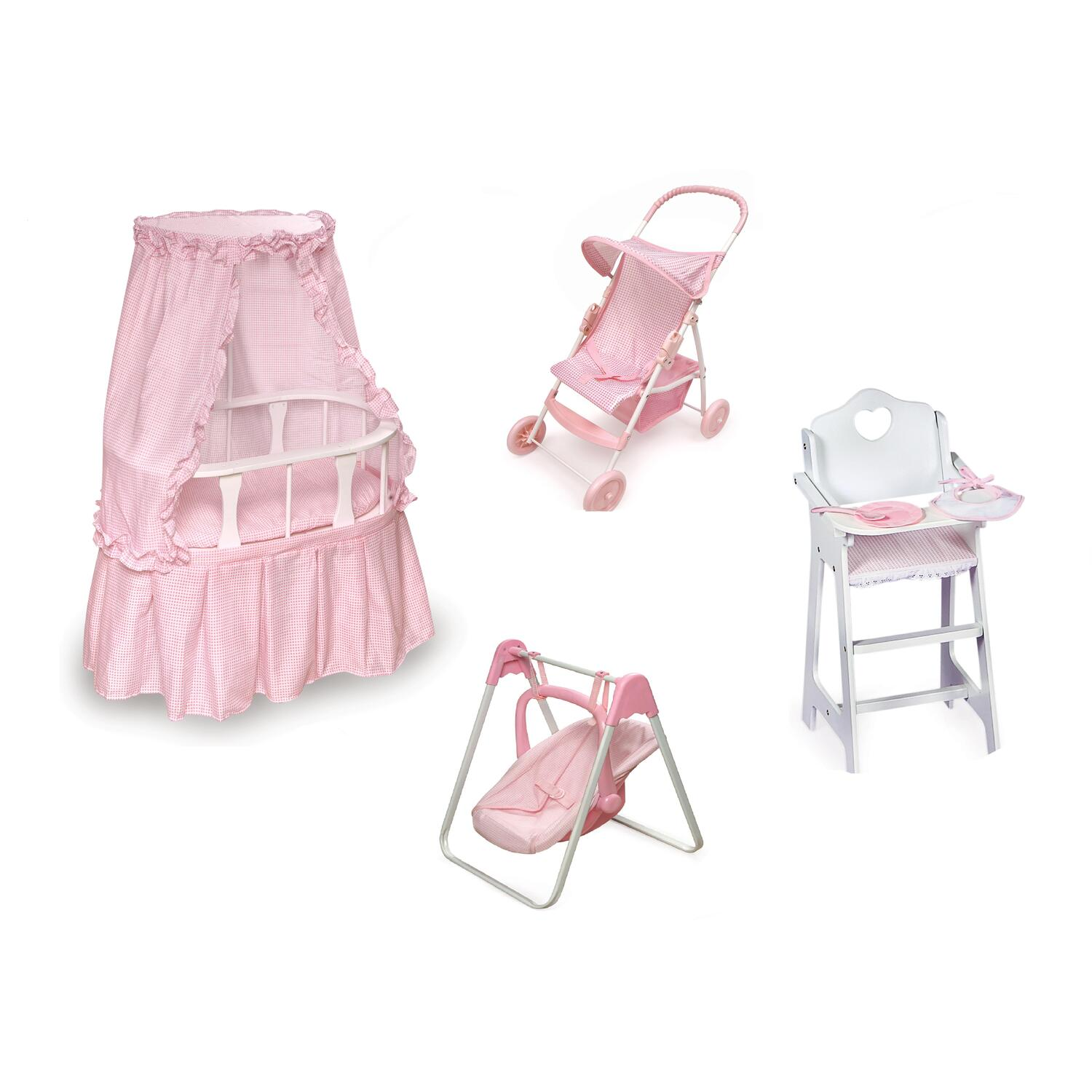 badger basket doll high chair lycra covers for hire oval bassinet furniture set by oj