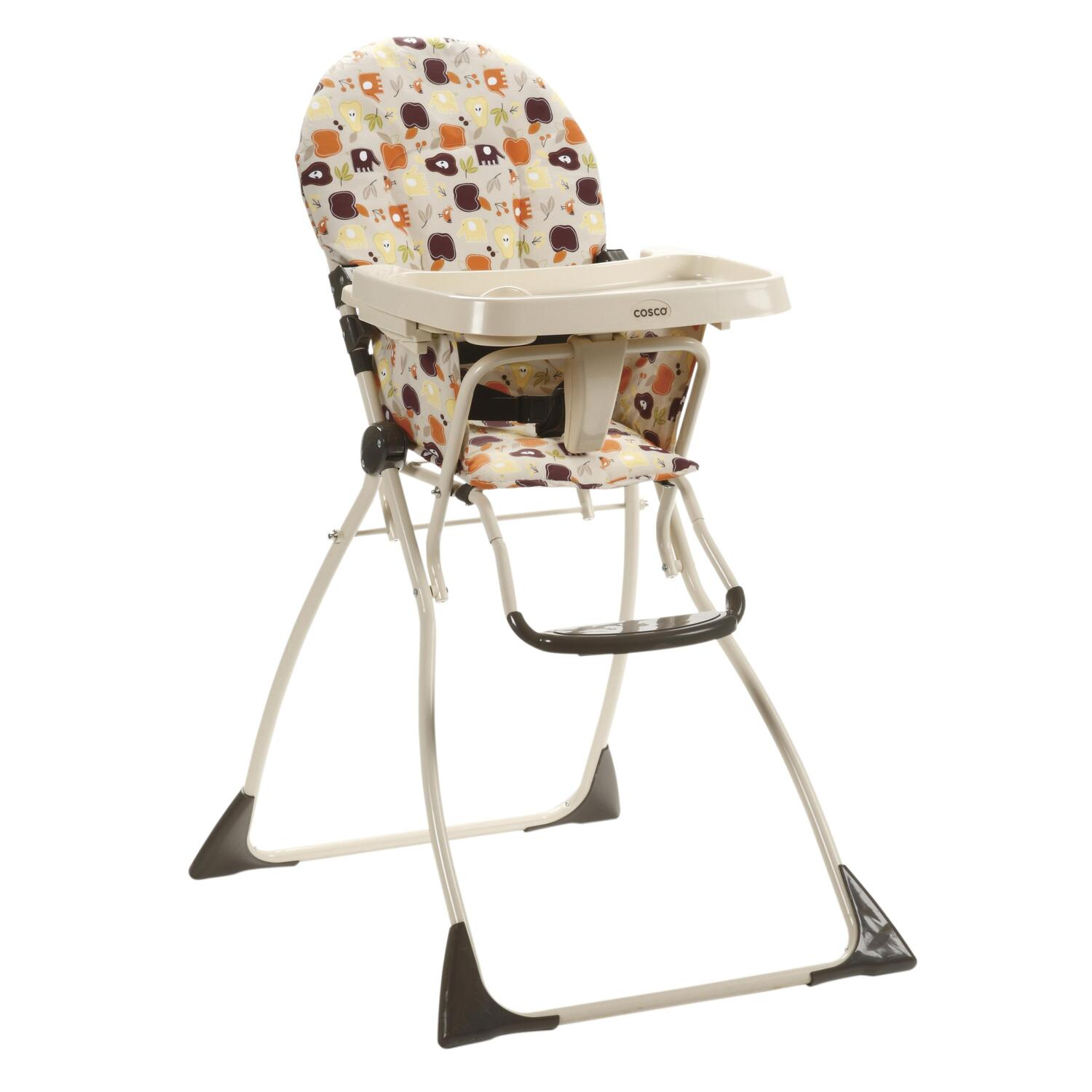 High Chair Stool Cosco Cosco Flat Fold High Chair Fruity Jungle By Oj