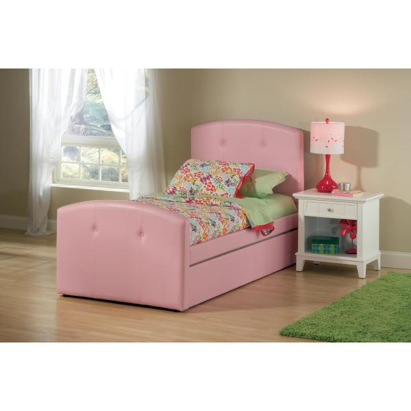 Hillsdale Furniture Laci Bed With Trundle - Twin Pink