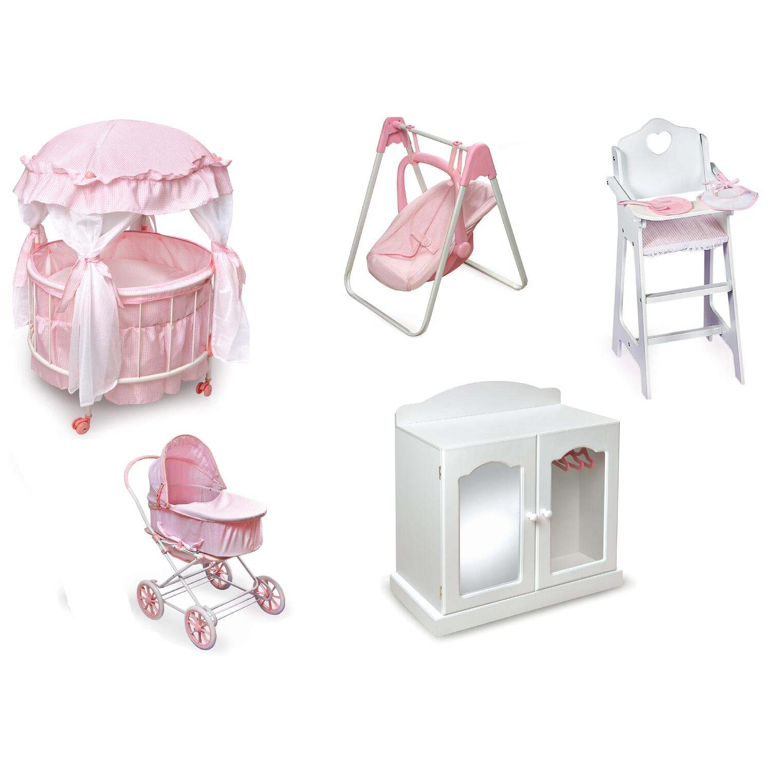 badger basket doll high chair desk covers deluxe set by oj commerce 17900deluxe