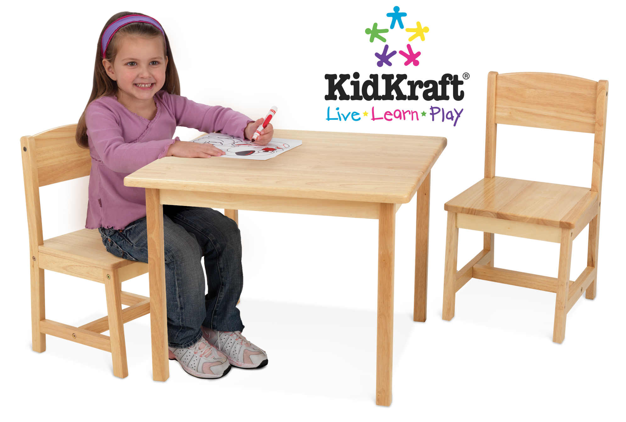 kidkraft aspen table and chair set folding by oj commerce 90 68