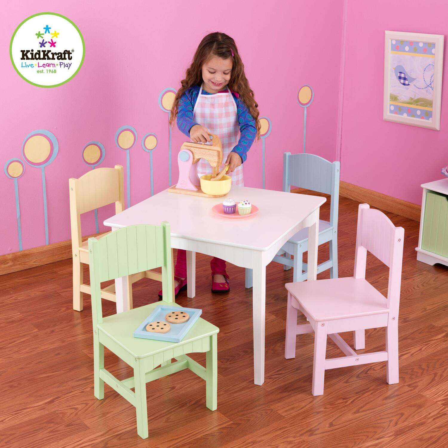 toys r us table and chairs for toddlers buy lazy boy chair kidkraft nantucket 4 pastel by oj commerce