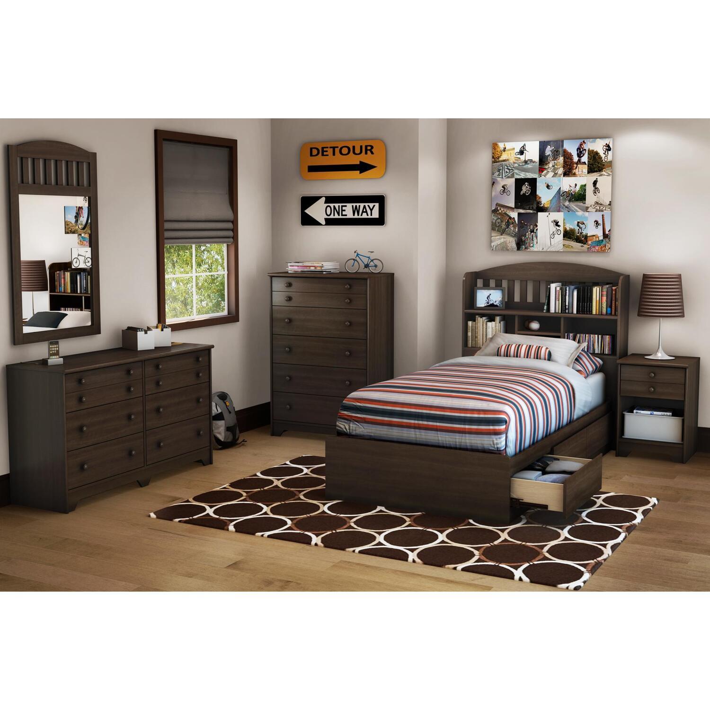 Newton Twin 6 Piece Bedroom Set in Mocha  OJCommerce