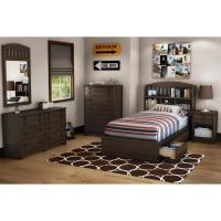 Newton Twin 6 Piece Bedroom Set in Mocha