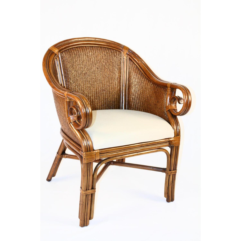 Hospitality Rattan Indoor Rattan  Wicker Club Chair by OJ