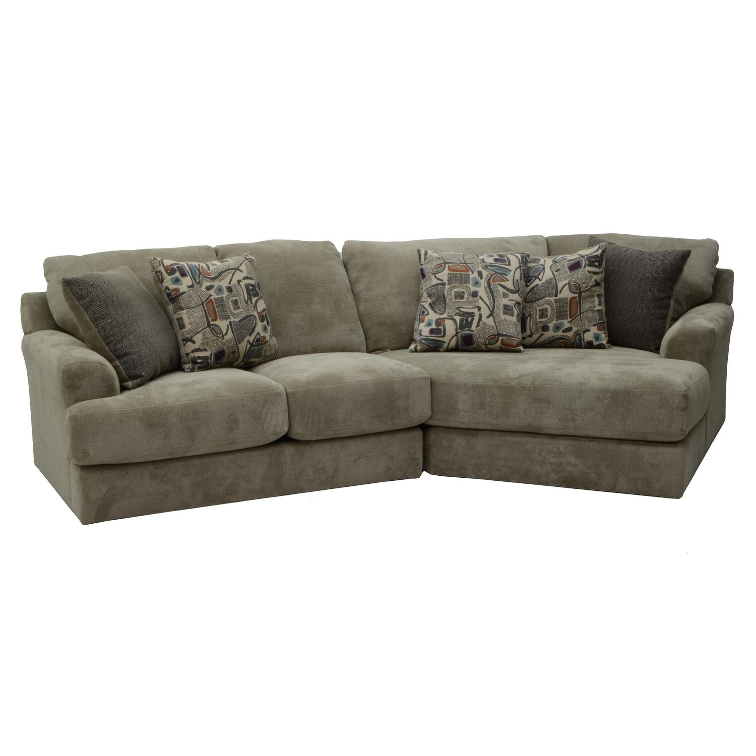 sectional sofa corner wedge ashley furniture brown reclining upholstered sofas love seats and chairs harden