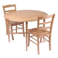 Drop Leaf Kitchen Table Chairs Mahogany Chippendale Winsome Hannah 3pc Dining Set With 2