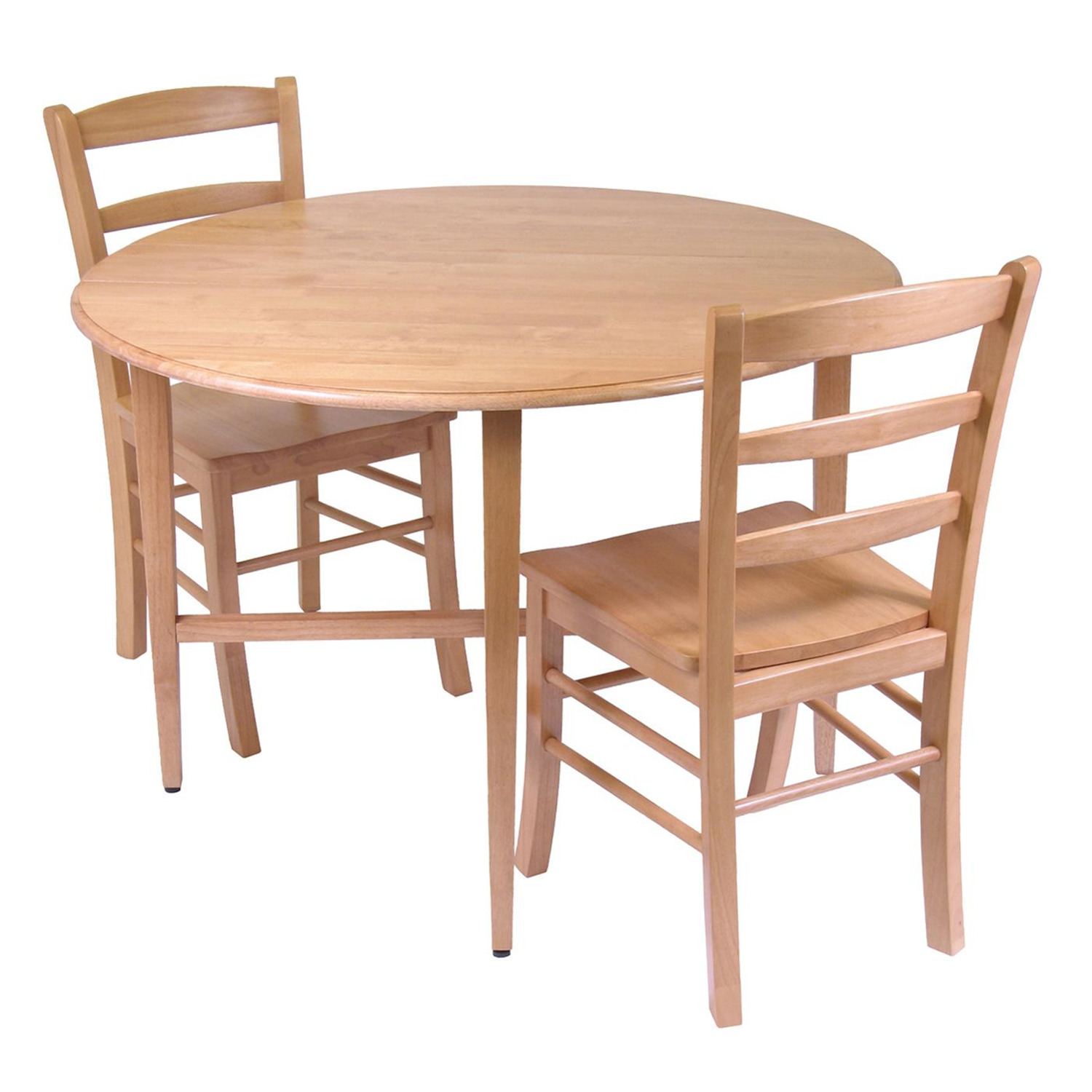 2 Chair Dining Table Hannah 3pc Dining Set Drop Leaf Table With 2 Ladder Back