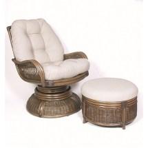 Hospitality Rattan Legacy Swivel Rocker And Ottoman Set