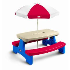 Little Kid Table And Chairs Office Chair 3d Model Tikes Easy Store Picnic With Umbrella By Oj