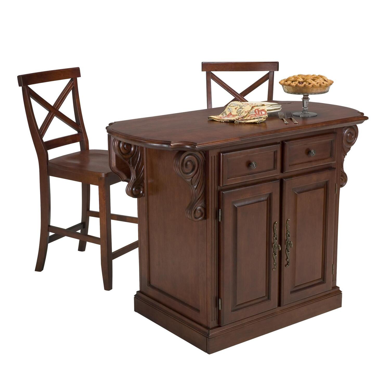 kitchen island bar stools where to buy sinks home styles traditions and two