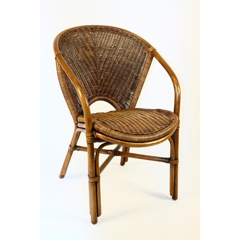 Hospitality Rattan Indoor Rattan  Wicker Arm Chair by OJ