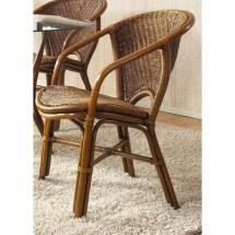 Indoor Rattan & Wicker Arm Chair - 200.00 Ojcommerce