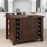 Home Styles Cabin Creek Kitchen Island with Breakfast Bar ...