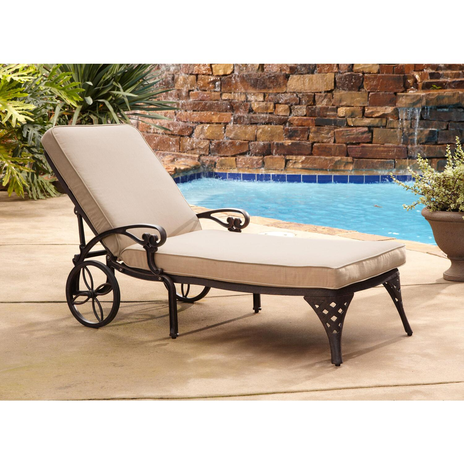Chairs For Pool Home Styles Biscayne Chaise Lounge Chair Taupe Cushion By