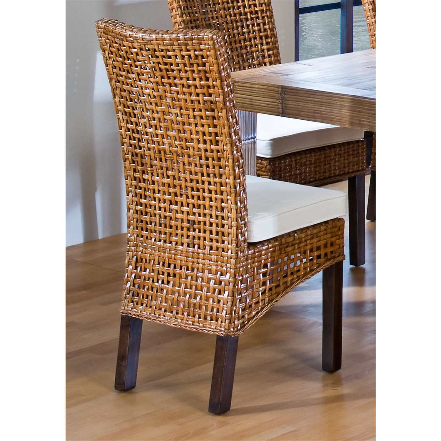 Hospitality Rattan Indoor Rattan  Wicker Side Chair with