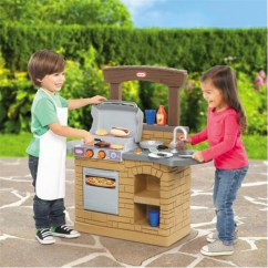 Kids Pretend Kitchen Prefabricated Outdoor Little Tikes Cook 'n Play Bbq™ - $70.54 | Ojcommerce