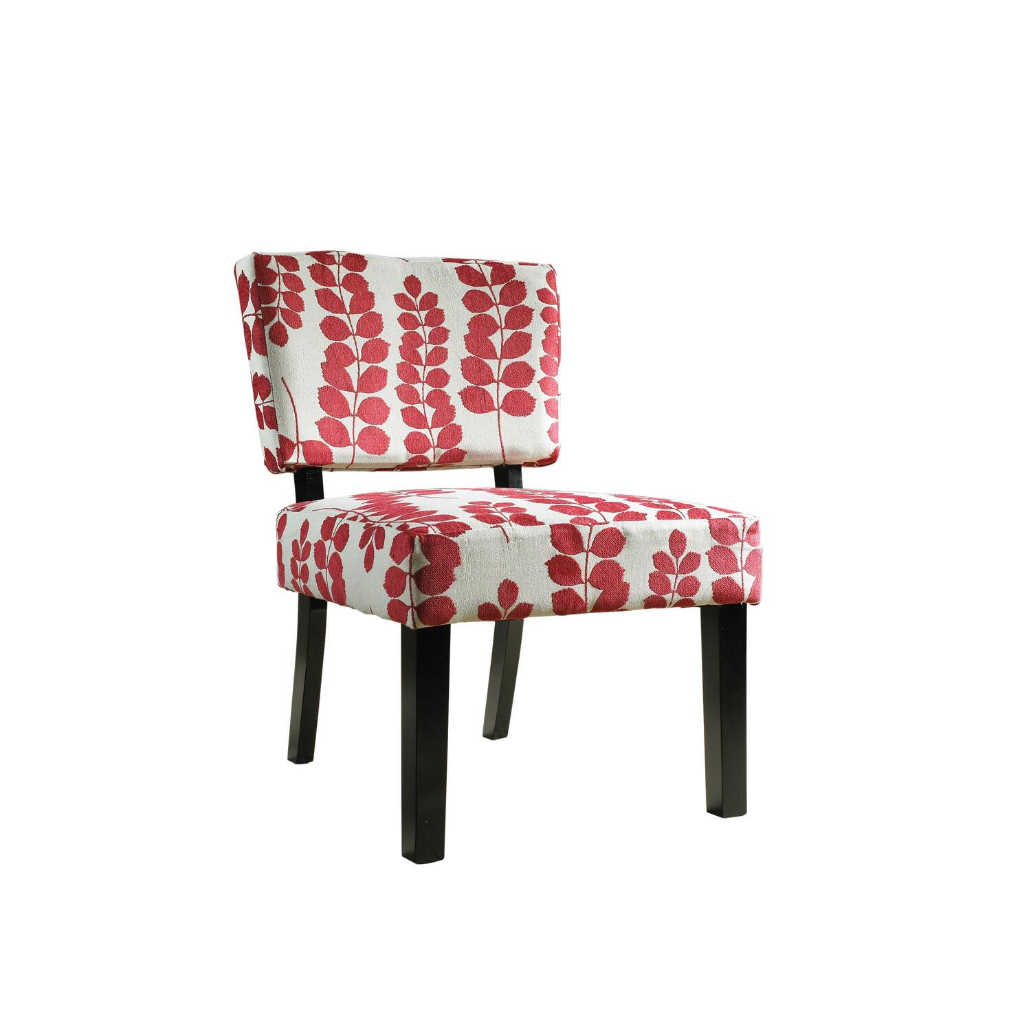 floral print accent chairs home theater bean bag oliver chair 169 00 ojcommerce