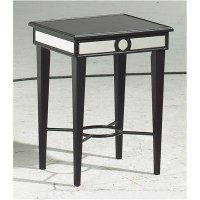Bernards Black/Mirror Accent Table by OJ Commerce 7918A ...