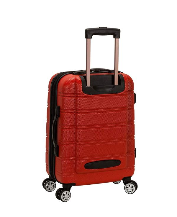 Rockland Melbourne 20- Expandable Abs Carry Luggage Dark Red 675478145036