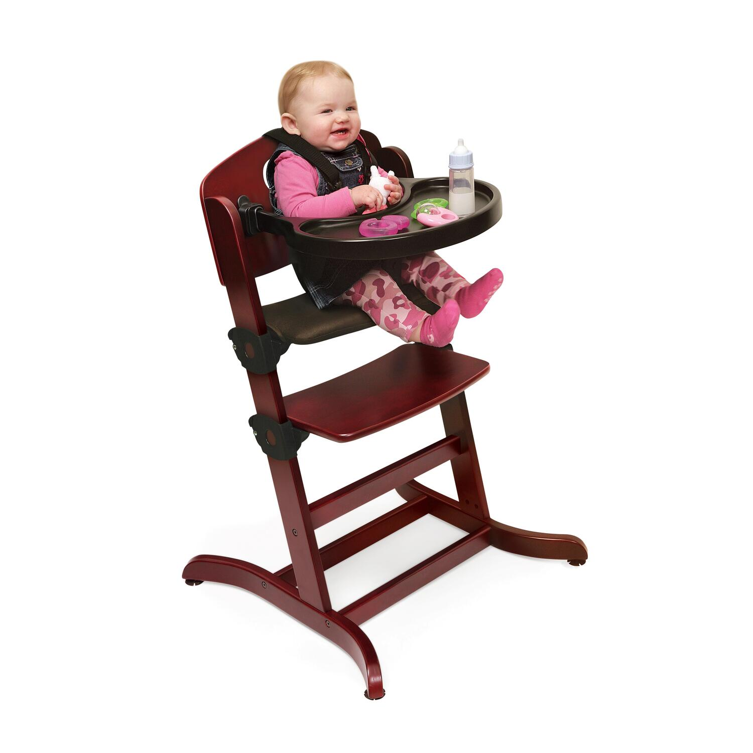 high chair basket zeus thunder ultimate gaming systems badger evolve wood with tray by oj