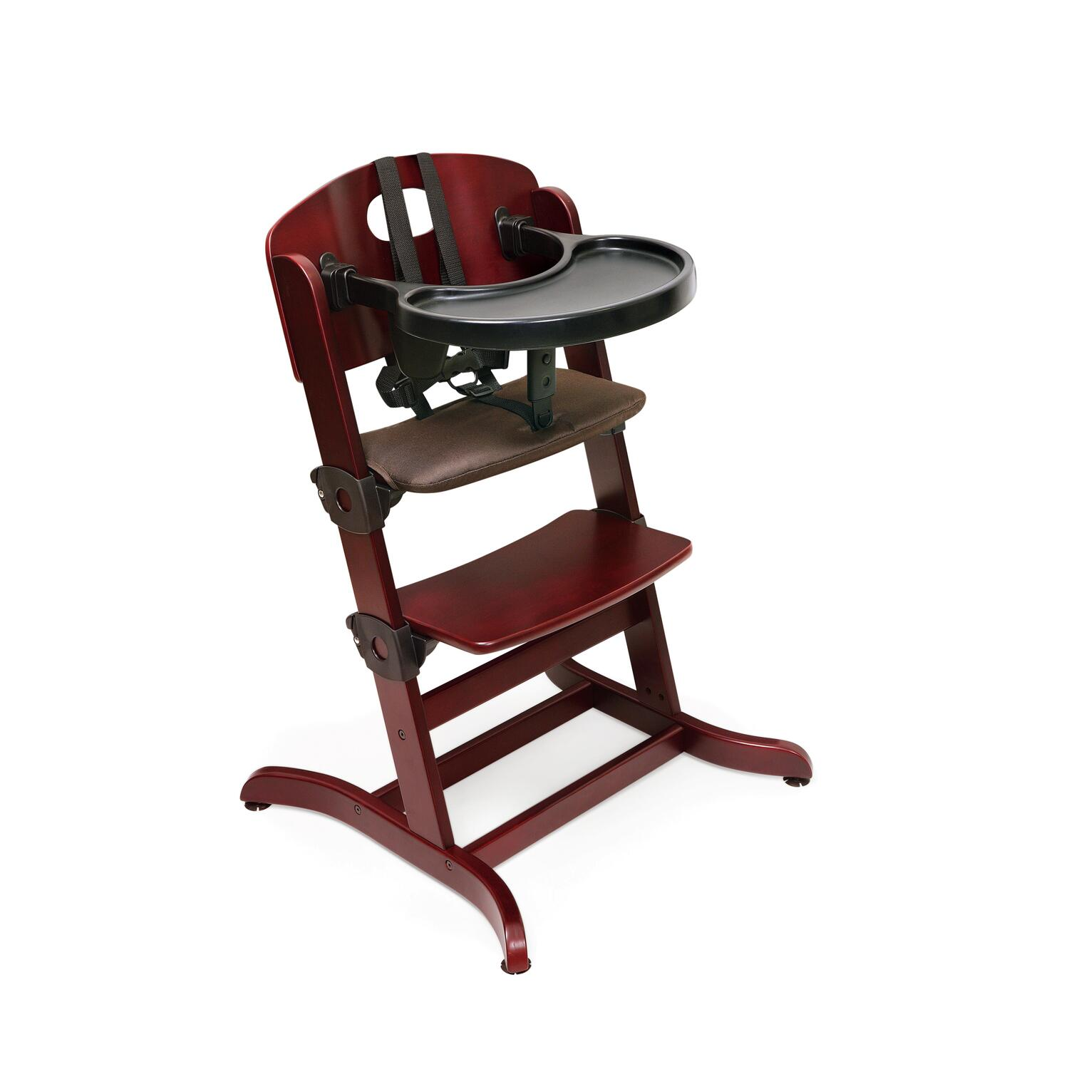 Badger High Chair Badger Basket Evolve Wood High Chair With Tray By Oj