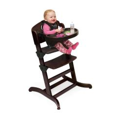 Badger Basket Evolve High Chair Mies Van Der Rohe Barcelona Wood With Tray By Oj