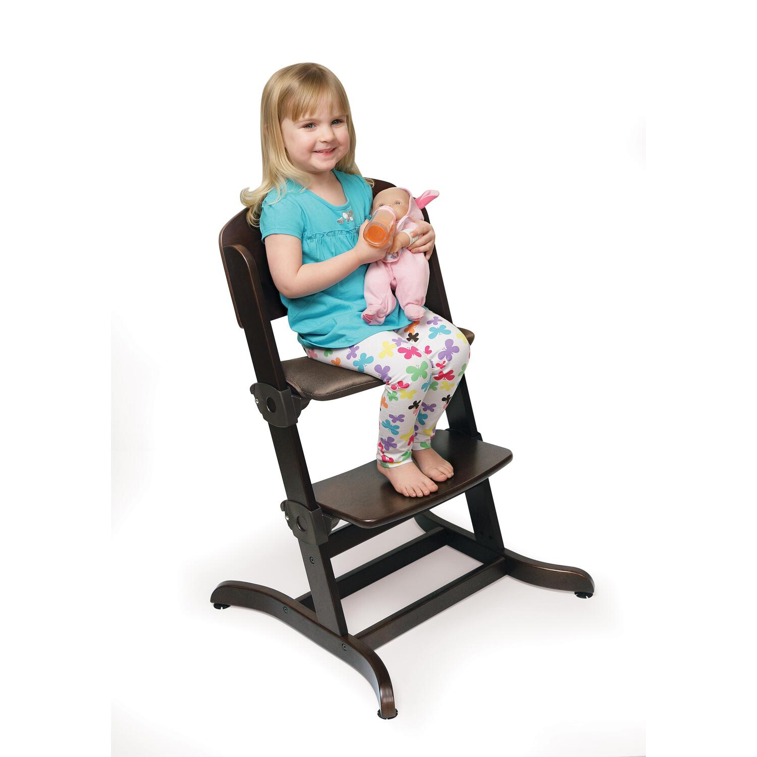 badger basket evolve high chair retro metal yard chairs wood with tray from 56 99 to 168