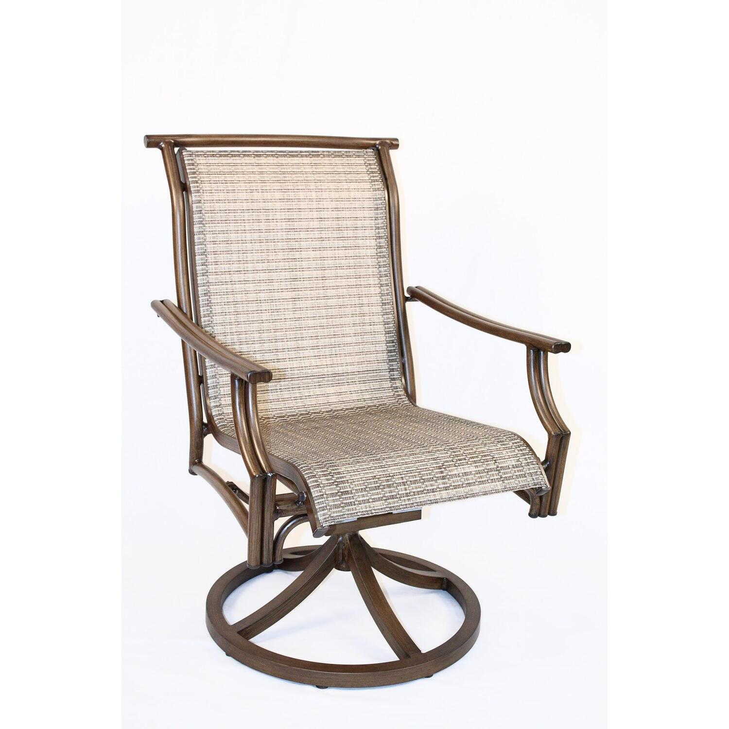 wicker swivel outdoor dining chair room with arms covers hospitality rattan sling patio rocking