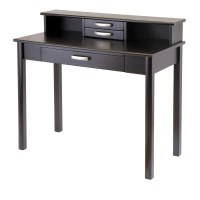 Winsome Liso 2pc Home Office Set, Writing Desk with Hutch ...