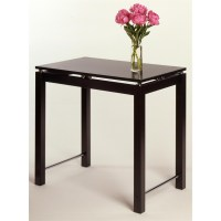 Linea Kitchen Island Table with Chrome Accent   OJCommerce