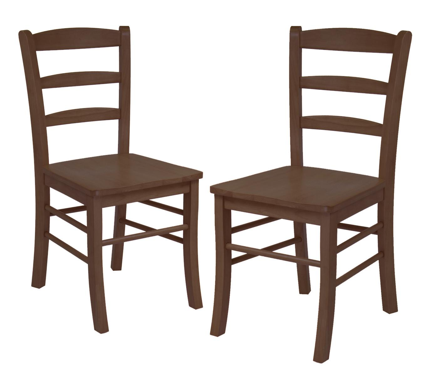 antique ladder back chairs value swing chair name set of 2 rta walnut ojcommerce