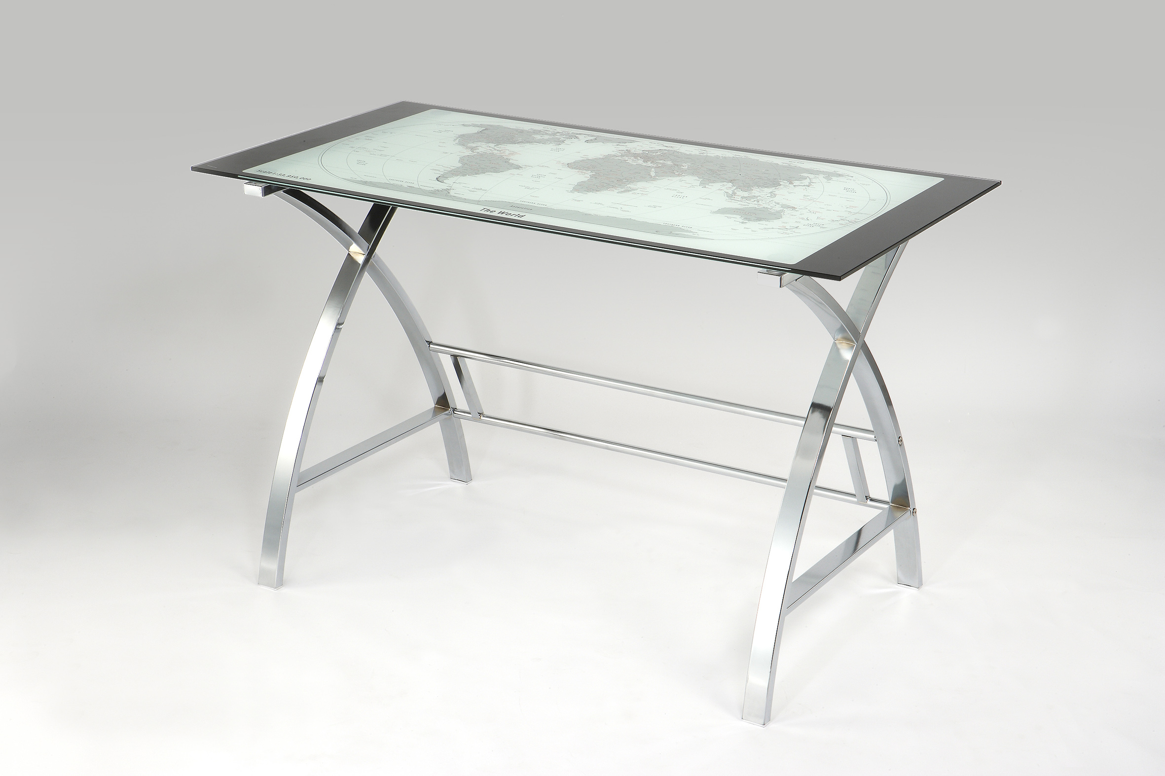 stainless steel chair hsn code folding hack world map printing curved x sided computer desk 224 00