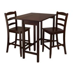 High Chair Converts To Table And Metal Frame Dining Chairs Winsome Lynnwood 3pc Drop Leaf With 2 Counter