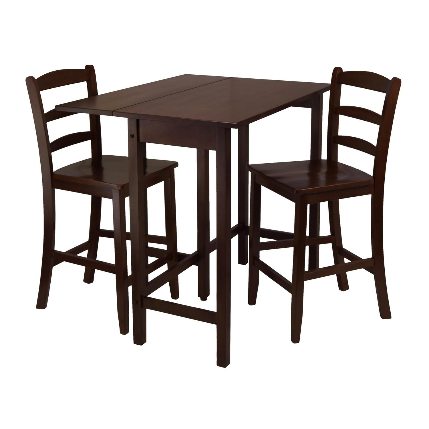Small Drop Leaf Table With 2 Chairs Winsome Lynnwood 3pc Drop Leaf High Table With 2 Counter