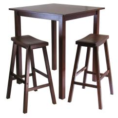High Bar Table And Chair Set Portable Floor Winsome Parkland 3pc Square Pub With 2